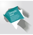 realistic torn paper with space for text vector image
