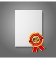 Realistic white blank hardcover book front view vector image vector image