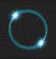 round blue glow light effect stars bursts vector image