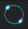 round blue glow light effect stars bursts with vector image