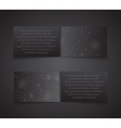 Set Horizontal Black Banners New Year Christmas vector image
