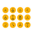 set of emoticons emoji of punctuation characters vector image vector image