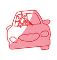 silhouette crash car and dangerous automobile vector image vector image