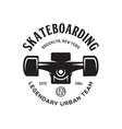 skateboarding label badge skate shop logotype vector image vector image