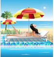 summer holidays by the sea vector image vector image