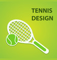 tennis sport design eps10 graphic vector image