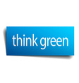 think green blue paper sign isolated on white vector image vector image