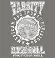 Varsity baseball vector image vector image