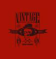 vintage apparel since 1969 vector image vector image