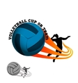 volleyball logo for team and cup vector image vector image