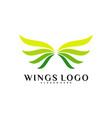 wing logo color wing logo design concept template vector image