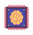 chip with brain symbol vector image