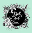 summer tropical vintage floral greeting card vector image