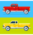 4 pickups vector image