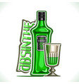 alcohol drink absinthe vector image vector image