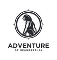 ancient human adventure logo vector image vector image