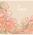 apple tree floral background vector image