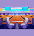 bowling club interior tables and playing alleys vector image vector image