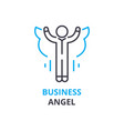 business angel concept outline icon linear sign vector image vector image