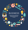 Business Icons and Objects in the Shape of Circle vector image vector image