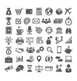business icons set icons for business management vector image