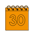 calendar with number 30 icon image vector image vector image