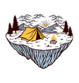camping in nature vector image