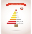 christmas tree made like bar chart with greetings vector image vector image