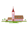church flat design rural estate abstract building vector image vector image