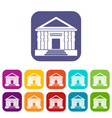 Colonnade icons set