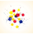 Colorful abstract watercolor backgrounds for your vector image vector image