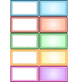 Colorful Frames Pack vector image vector image