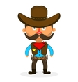 cowboy sheriff pistol vector image vector image