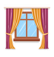 curtains on window isolated icon blinds or vector image vector image