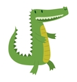 Cute crocodile character vector image vector image