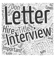 Don t Skip The Follow Up After An Interview Word vector image vector image