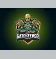 e sport logo with big armor vector image vector image