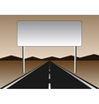 empty road - empty billboard vector image vector image