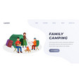 family camping landing page vector image vector image