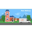 Fast delivery banner Commercial vehicle vector image vector image
