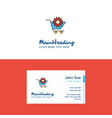 flat cart setting logo and visiting card template vector image vector image