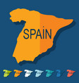 Flat design Spain vector image vector image