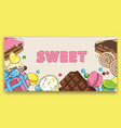 flyer template on baking and sweets vector image vector image