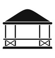 furniture gazebo icon simple style vector image vector image