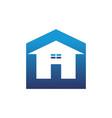 home up arrow logo vector image vector image