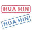 hua hin textile stamps vector image vector image