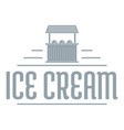 ice cream stall logo simple gray style vector image vector image