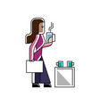 indian businesswoman with business documents vector image vector image