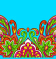 indian ethnic background pattern vector image vector image