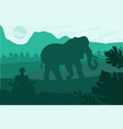 indian landscape with elephant and yog vector image